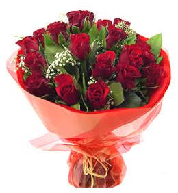 Ulus Ankara İnternetten çiçek siparişi  11 adet kimizi gülün ihtisami buket modeli