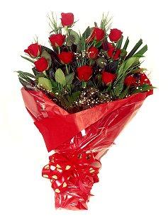 12 adet kirmizi gül buketi  Ulus Ankara çiçek online çiçek siparişi