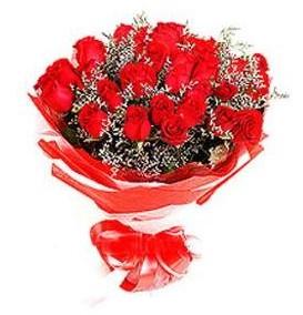Ulus Ankara çiçekçi telefonları  12 adet kırmızı güllerden görsel buket