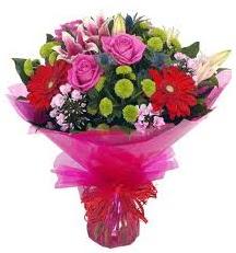 Karışık mevsim çiçekleri demeti  Ulus Ankara kaliteli taze ve ucuz çiçekler