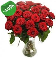 Vazo içerisinde 25 adet kırmızı gül  Ulus Ankara güvenli kaliteli hızlı çiçek