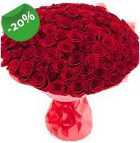 Özel mi Özel buket 101 adet kırmızı gül  Ulus Ankara İnternetten çiçek siparişi