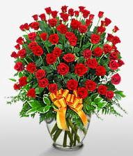 Görsel vazo içerisinde 101 adet gül  Ulus Ankara güvenli kaliteli hızlı çiçek