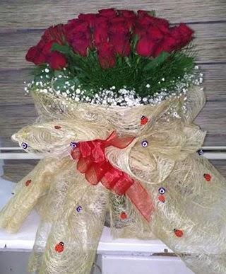 41 adet kırmızı gülden kız isteme buketi  Ulus Ankara hediye sevgilime hediye çiçek