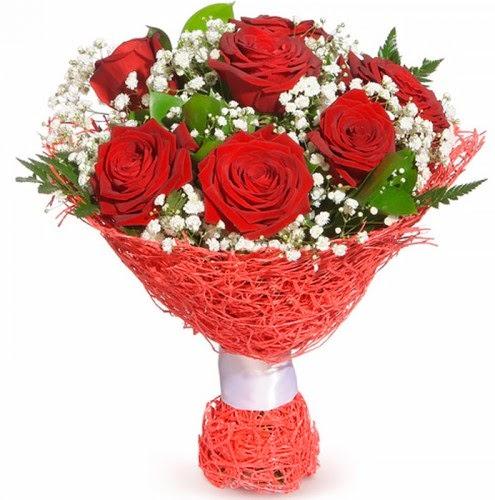 7 adet kırmızı gül buketi  Ulus Ankara çiçek online çiçek siparişi