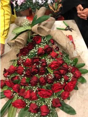 Kız isteme 41 adet gül nişan çiçeği