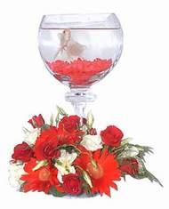 Ulus Ankara çiçek yolla , çiçek gönder , çiçekçi   Kadehte estetik aranjman