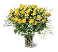 Ulus Ankara anneler günü çiçek yolla  15 adet sarigül mika yada cam vazoda