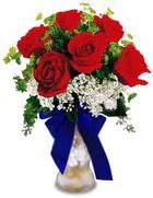 Ulus Ankara hediye sevgilime hediye çiçek  cam yada mika vazo içerisinde 7 adet gül