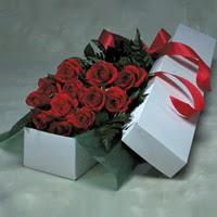 Ulus Ankara kaliteli taze ve ucuz çiçekler  11 adet gülden kutu