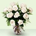 Ulus Ankara İnternetten çiçek siparişi  beyaz güller cam yada mika vazo