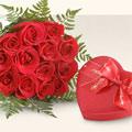 Ulus Ankara çiçek satışı  10 adet gül ve kalp çikolata