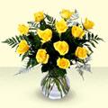 Ulus Ankara hediye sevgilime hediye çiçek  9 adet sari gül mika ve cam vazoda