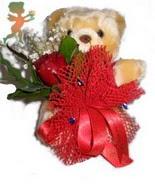 oyuncak ayi ve gül tanzim  Ulus Ankara anneler günü çiçek yolla