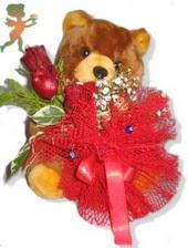 oyuncak ayi ve gül tanzim  Ulus Ankara çiçek online çiçek siparişi