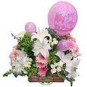 balon ve çiçeklerle tanzim  Ulus Ankara hediye sevgilime hediye çiçek