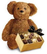 çikolata ve oyuncak ayicik