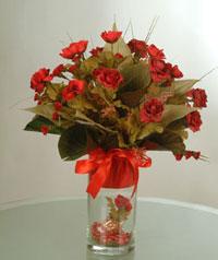yapay güllerden vazo  9 gül  Ulus Ankara online çiçekçi , çiçek siparişi