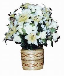yapay karisik çiçek sepeti   Ulus Ankara çiçekçi telefonları