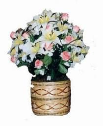 yapay karisik çiçek sepeti   Ulus Ankara çiçek gönderme