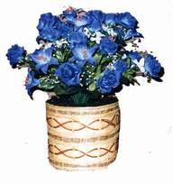 yapay mavi çiçek sepeti  Ulus Ankara yurtiçi ve yurtdışı çiçek siparişi