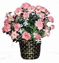 yapay karisik çiçek sepeti  Ulus Ankara çiçek yolla