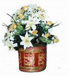 yapay karisik çiçek sepeti   Ulus Ankara yurtiçi ve yurtdışı çiçek siparişi