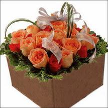 kare sandikta 11 gülllerden   Ulus Ankara 14 şubat sevgililer günü çiçek