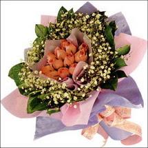 11  adet  gül ve   elyaflar   Ulus Ankara 14 şubat sevgililer günü çiçek