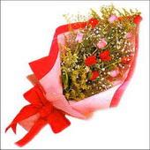 12 adet renkli  gül buketi   Ulus Ankara 14 şubat sevgililer günü çiçek