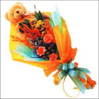 ayicik gül ve kir çiçekleri   Ulus Ankara 14 şubat sevgililer günü çiçek