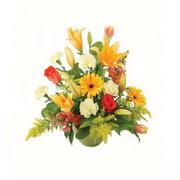 karisik renkli çiçekler tanzim