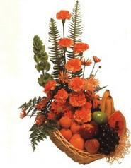 sepet kir çiçekleri meyva