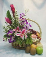 orkide kazablanka ve sepet