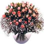 büyük cam fanusta güller