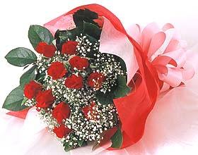 12 adet kirmizi gül buketi  Ulus Ankara güvenli kaliteli hızlı çiçek
