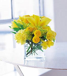 sarinin sihri cam içinde görsel sade çiçekler