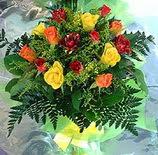 13 adet karisik gül buketi demeti   Ulus Ankara online çiçekçi , çiçek siparişi