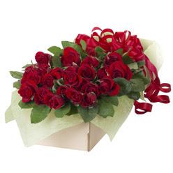 19 adet kirmizi gül buketi  Ulus Ankara çiçek , çiçekçi , çiçekçilik