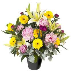 karisik mevsim çiçeklerinden vazo tanzimi  Ulus Ankara online çiçekçi , çiçek siparişi