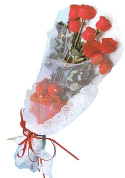 11 adet kirmizi güller buket tanzimi   Ulus Ankara anneler günü çiçek yolla
