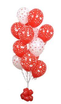 Sevdiklerinize 17 adet uçan balon demeti yollayin.  Ulus Ankara hediye sevgilime hediye çiçek