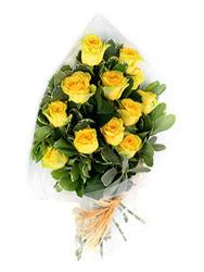 Ulus Ankara çiçek , çiçekçi , çiçekçilik  12 li sari gül buketi.