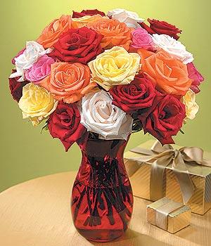 Ulus Ankara İnternetten çiçek siparişi  13 adet renkli gül