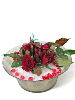 Ulus Ankara çiçek mağazası , çiçekçi adresleri  EN ÇOK Sevenlere 7 adet kirmizi gül mika yada cam tanzim