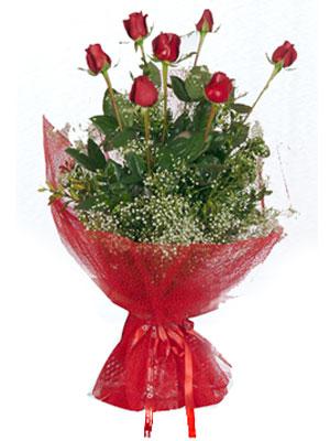 Ulus Ankara çiçek gönderme  7 adet gülden buket görsel sik sadelik