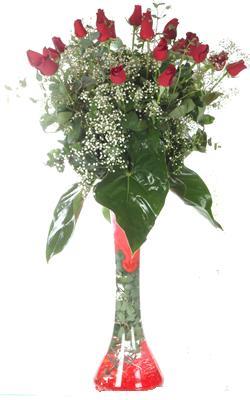 Ulus Ankara online çiçekçi , çiçek siparişi  19 ADET GÜL VE FIL CAM AYAGI