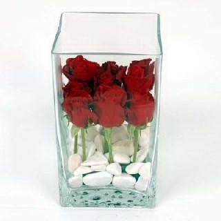 Ulus Ankara çiçek online çiçek siparişi  7 adet kirmizi gül cam yada mika vazo içinde