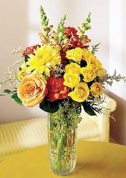Ulus Ankara çiçek yolla , çiçek gönder , çiçekçi   mika yada cam içerisinde karisik mevsim çiçekleri
