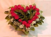 Ulus Ankara çiçek online çiçek siparişi  Kalp seklinde hazirlanmis gül tanzimi